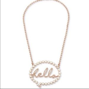 Hello betsey Johnson necklace